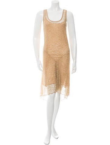 Michael Kors Embellished High-Low Dress None