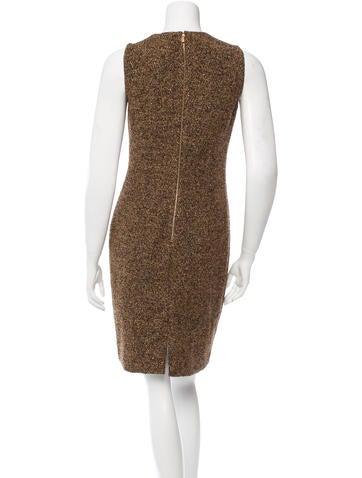 Virgin Wool-Blend Tweed Dress