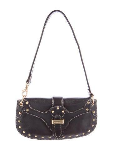 Michael Kors Embellished Leather Shoulder Bag None