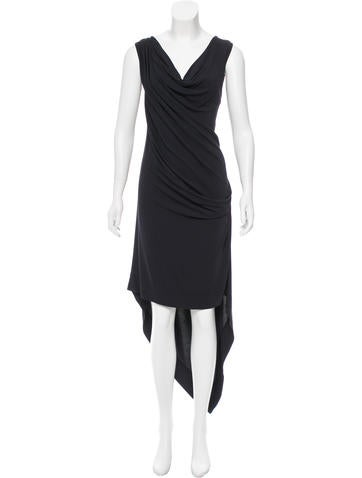 Michael Kors Draped High-Low Dress