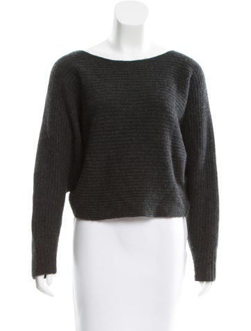 Michael Kors Rib Knit Cropped Sweater None