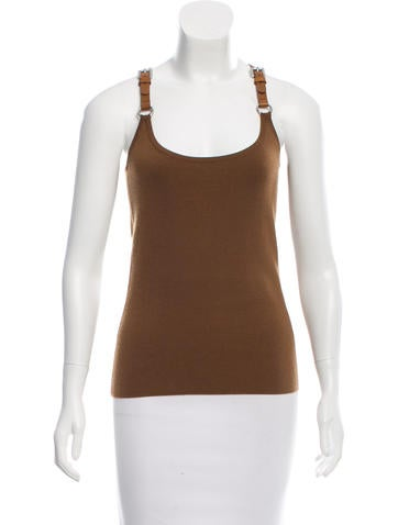 Michael Kors Cashmere Harness Top None