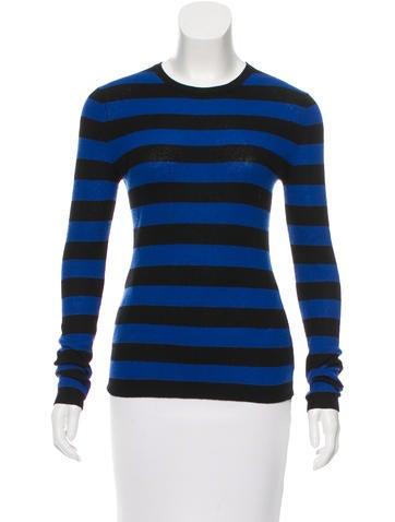 Michael Kors Striped Cashmere Top None