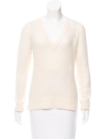 Michael Kors Open Knit Cashmere Sweater None