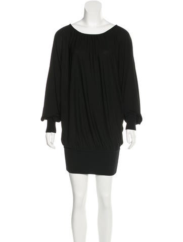 Michael Kors Knit-Trimmed Mini Dress None