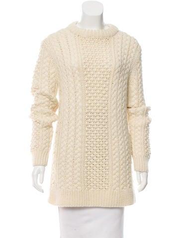 Michael Kors Wool Long Sleeve Sweater None