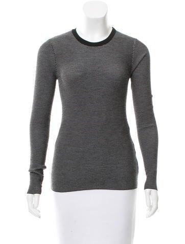Michael Kors Wool Long Sleeve Top None