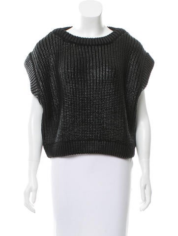 Michael Kors Coated Cropped Sweater None