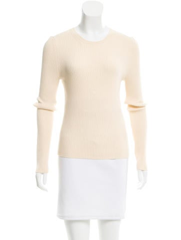 Michael Kors Long Sleeve Rib Knit Top None