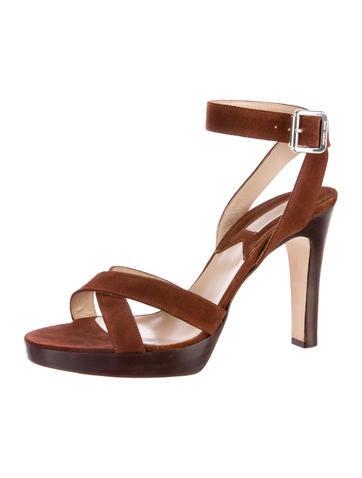 Suede Platform Sandals