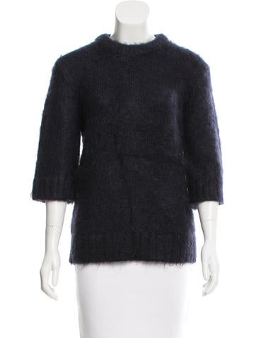 Michael Kors Alpaca Three-Quarter Sleeve Sweater None