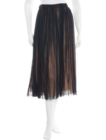 Michael Kors Silk Pleated Skirt w/ Tags
