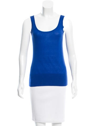 Michael Kors Cashmere Scoop Neck Top None