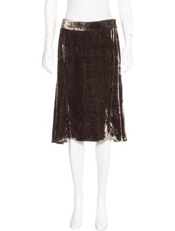 Michael Kors Velvet Flounce Skirt