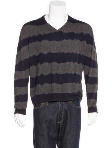 Michael Kors Striped Cashmere Sweater None