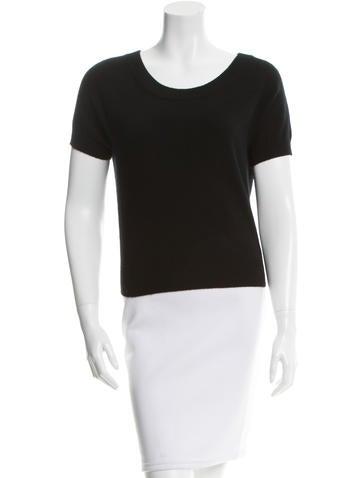 Michael Kors Cashmere Short Sleeve Top None