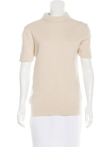 Michael Kors Cashmere-Blend Short Sleeve Sweater None
