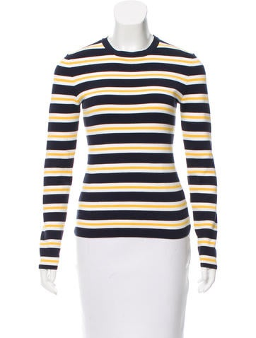 Michael Kors Striped Long Sleeve Top None