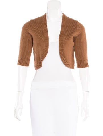Michael Kors Cropped Open Front Cardigan None
