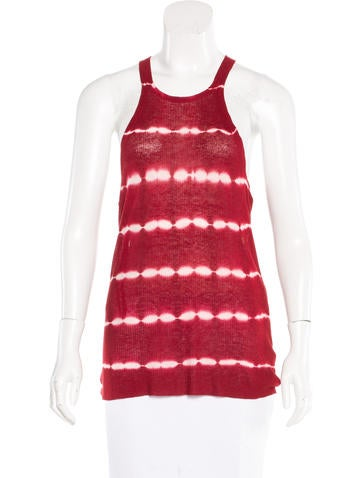 Michael Kors Tie-Dye Rib Knit Top None