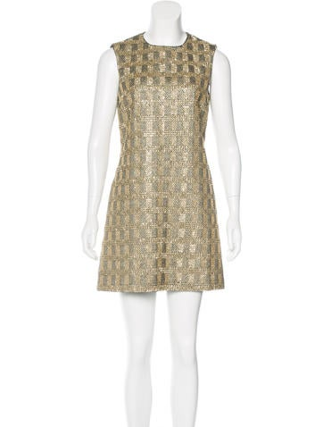 Michael Kors Embellished Tweed Dress None