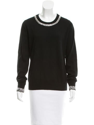 Michael Kors Crystal-Embellished Cashmere Sweater None