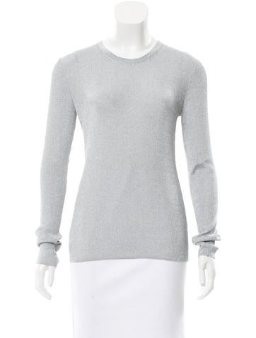 Michael Kors Metallic Rib Knit Top None