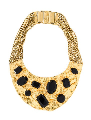 Michael Kors Crystal Bib Necklace None
