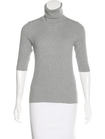 Michael Kors Rib Knit Turtleneck Top None