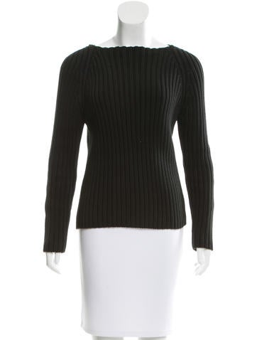 Michael Kors Bateau Neck Rib Knit Sweater None