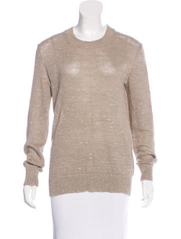 Michael Kors Linen Rib Knit Sweater None