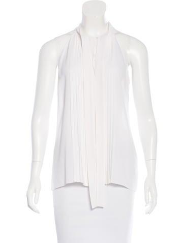 Michael Kors Sleeveless Silk Top None