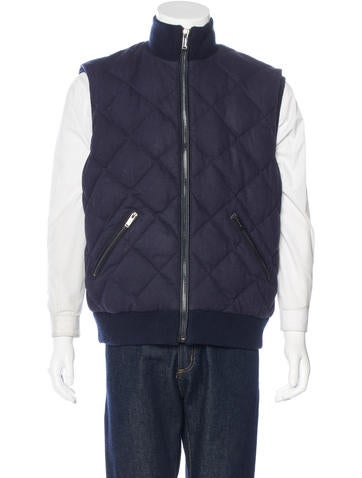Michael Kors Quilted Wool Vest None