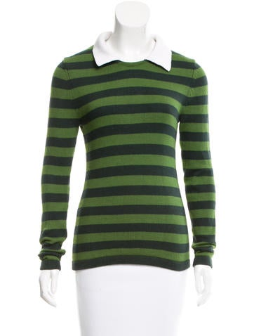 Michael Kors Striped Long Sleeve Sweater None