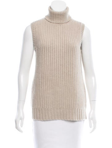Michael Kors Cashmere Turtleneck Top None