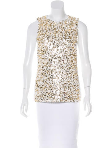 Michael Kors Sleeveless Embellished Top None