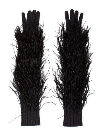 Michael Kors Embellished Cashmere Gloves None