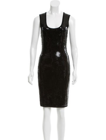 Michael Kors Wool Embellished Dress None