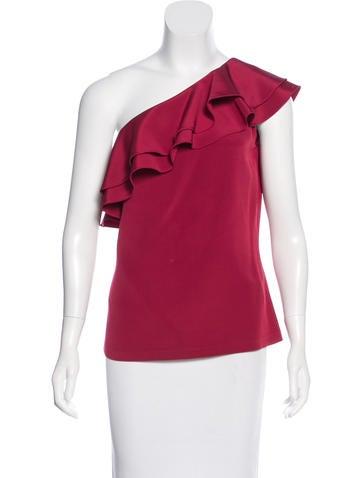 Michael Kors Silk One-Shoulder Top None