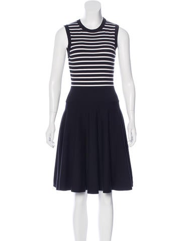 Michael Kors Wool Striped Dress None