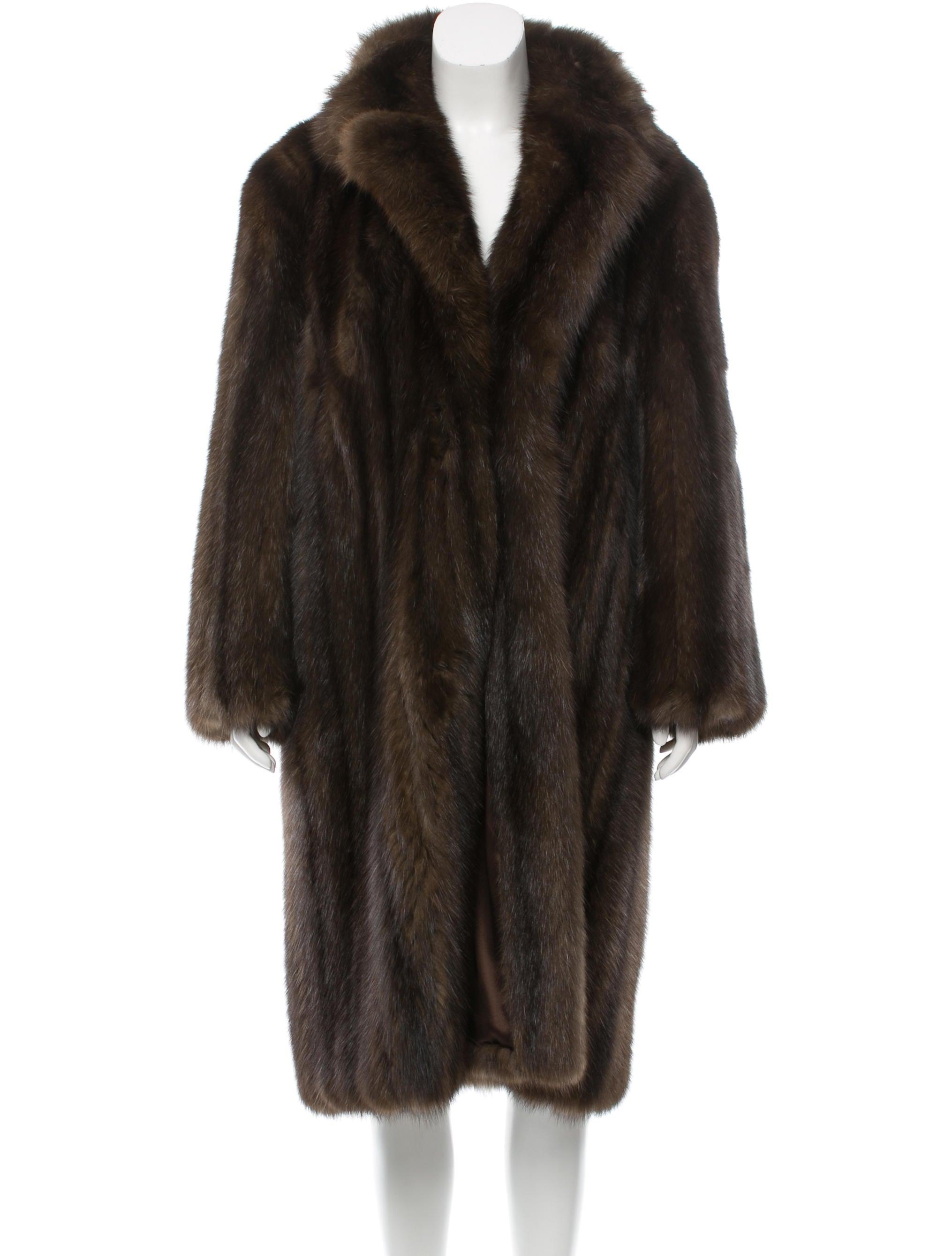 Michael Kors Long Sable Fur Coat Clothing Mic46519