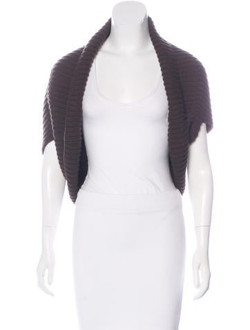 Michael Kors Rib Knit Cashmere Cardigan None