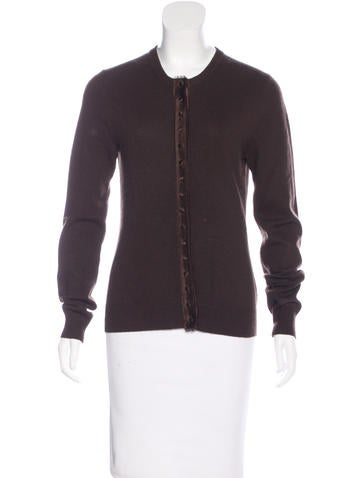Michael Kors Long Sleeve Button-Up Cardigan None