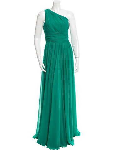 Michael Kors One-Shoulder Silk Gown
