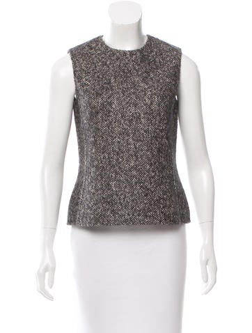 Michael Kors Herringbone Wool Top None