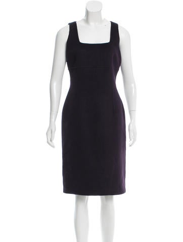 Michael Kors Collection Wool & Cashmere-Blend Sheath Dress w/ Tags None