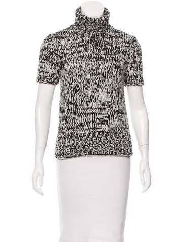 Michael Kors Wool-Blend Turtleneck Top None