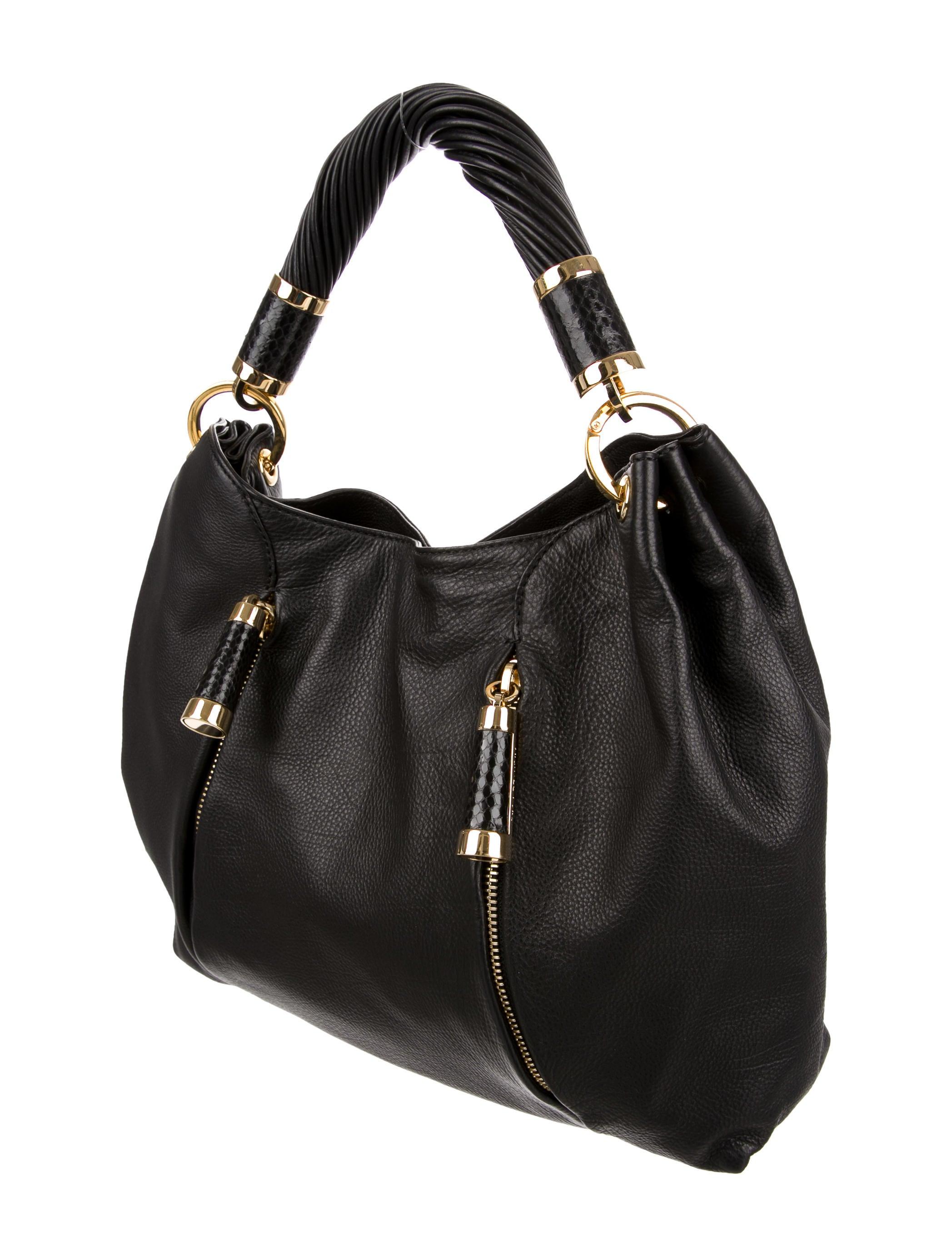 michael kors tonne hobo bag handbags mic47804 the realreal. Black Bedroom Furniture Sets. Home Design Ideas