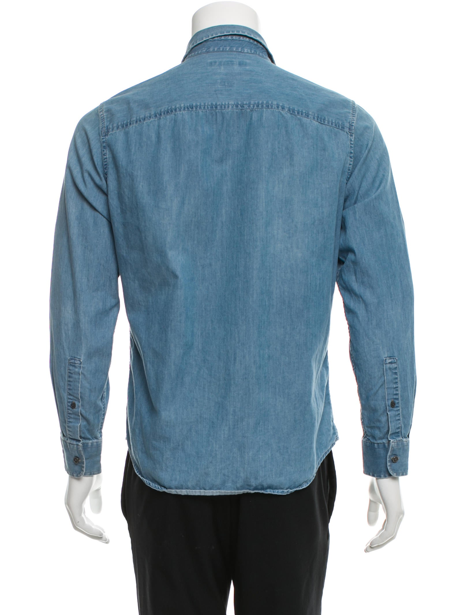 Michael kors tailored fit denim shirt clothing for Best online tailored shirts
