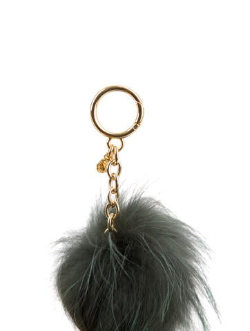 Fur Purse Bag Charm